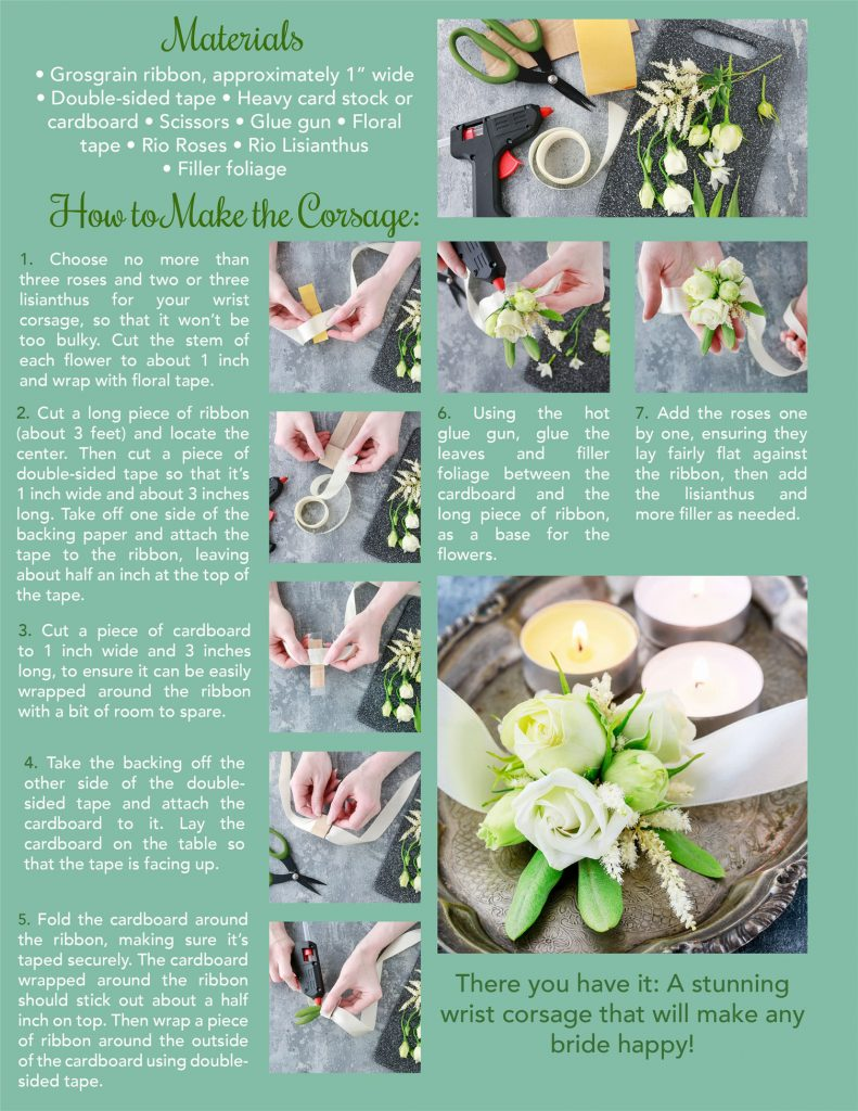 How To Make A Bridal Wrist Corsage Rio Roses